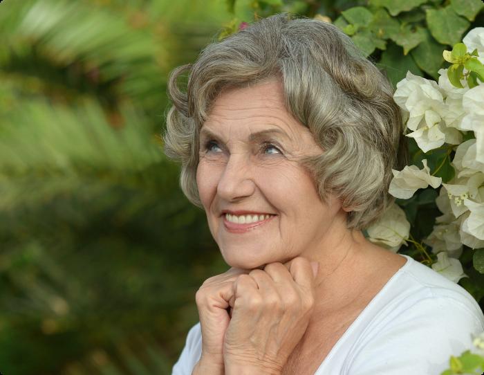Happy senior woman